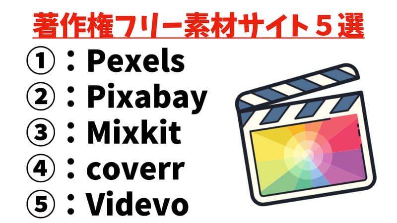 Final Cut Pro動画画像フリー素材.